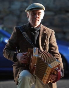 Squeezebox player at Tynemouth station market