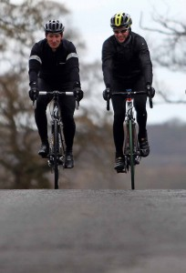 FORMER Newcastle United and Sunderland player Robbie Elliot is joined by triple jump world champion Jonathan Edwards as he trains to cycle over 3,500 miles to raise money for the Bobby Robson Foundation and Breakthrough Breast Cancer.