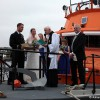 Tynemouth RNLI lifeboat volunteer crewmember Jill McCormick has her marriage to Simon Lee blessed onboard the Tynemouth RNLI lifeboat 'Spirit of Northumberland'.