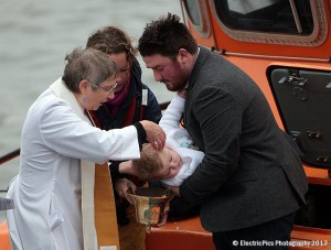 Baby christened on board Tynemouth RNLI lifeboat
